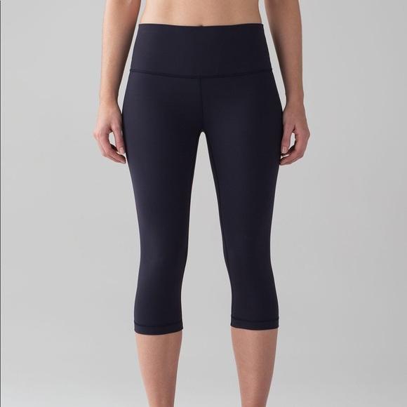 lululemon athletica Pants - Wunder Under 1/2 tight, midnight navy